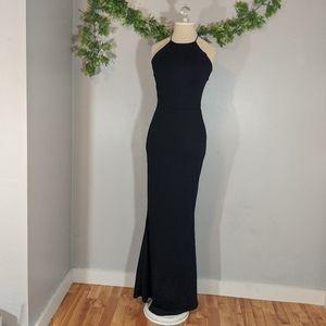 NWT Missguided Cross Back Maxi Dress Black